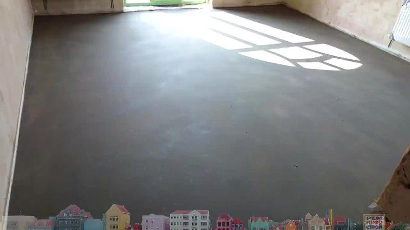 [РемИнфоСтрой] Бетонный пол в гараже. Покрытие бетонного пола. Чтобы бетонный пол не пылил.