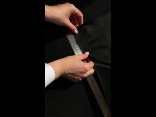 Ткань утяжка, черный