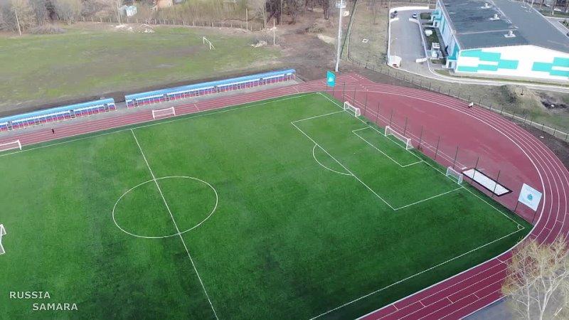 По нормам FIFA в Самаре на стадионе Салют сделали газон апрель 2021 г Мехзавод Russia 720p
