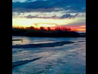 Прекрасный закат на Лабе.Видео @ beautiful_labinsk
