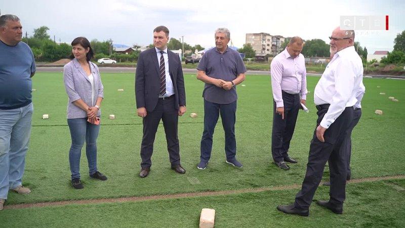 В рамках рабочего визита в город Бузулук С И Грачев посетил стадион Локомотив