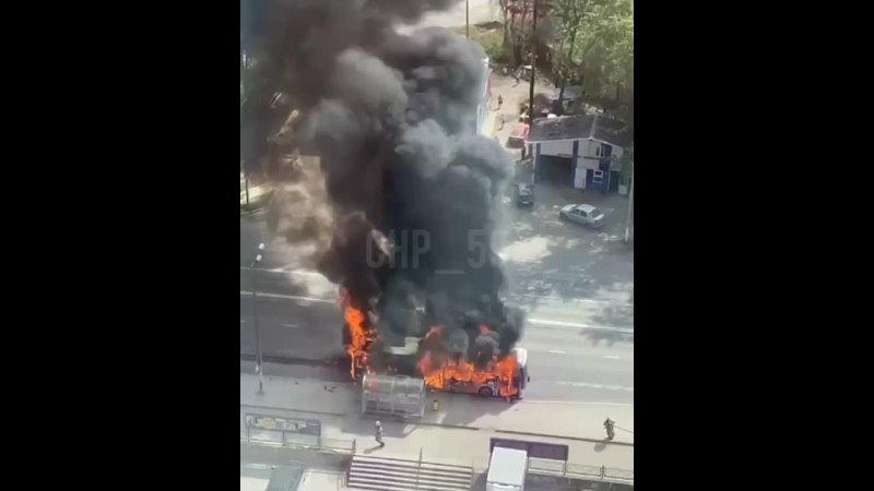ост Сбербанк горит автобус