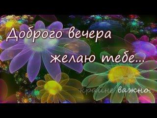 Спокойной ночи и доброго вечера_Желаю тебе приятного вечера_Отдохни и расслабься💌.mp4