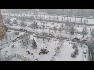 Снегопад в Марте 2021