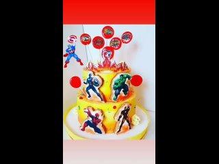 торт с супер героями