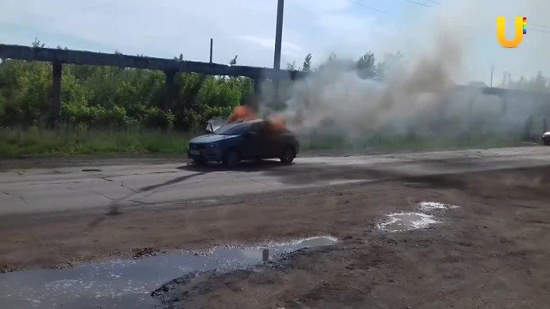 В Башкирии на ходу взорвалась легковушка видео от 11 06 2021 года