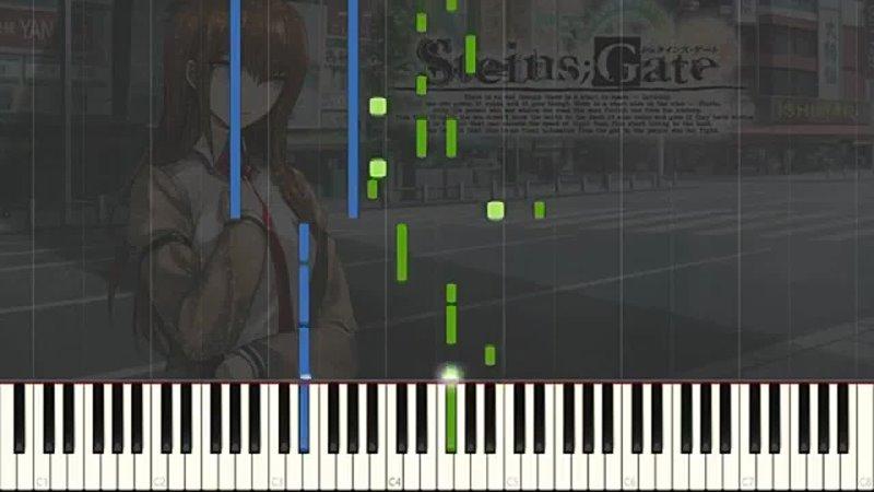 Zzz Anime on Piano Skyclad no Kansokusha Steins Gate Visual Novel OP Anime ED3 Piano Arrangement Synthesia