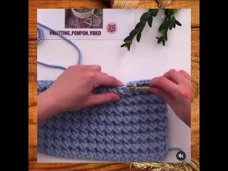 Новое - хорошо забытое старое?☺️Очень интересно смотрится этот узор в трикотажной пряже❤️Видео от @ knitting_pomponПРОИЗВО