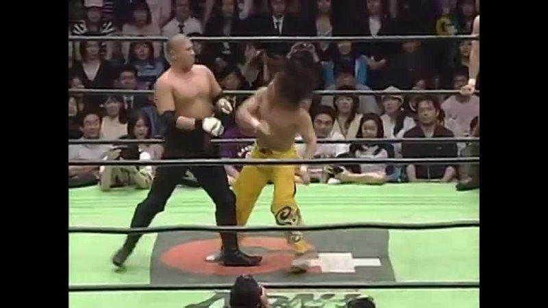 Low Ki SUWA Yoshinobu Kanemaru vs KENTA Naomichi Marufuji Taiji Ishimori 19 05 2006 NOAH Northern Navigation Day 1