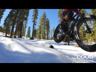 Snow Mountainbiking In The Sierra Nevadas l Fatbike