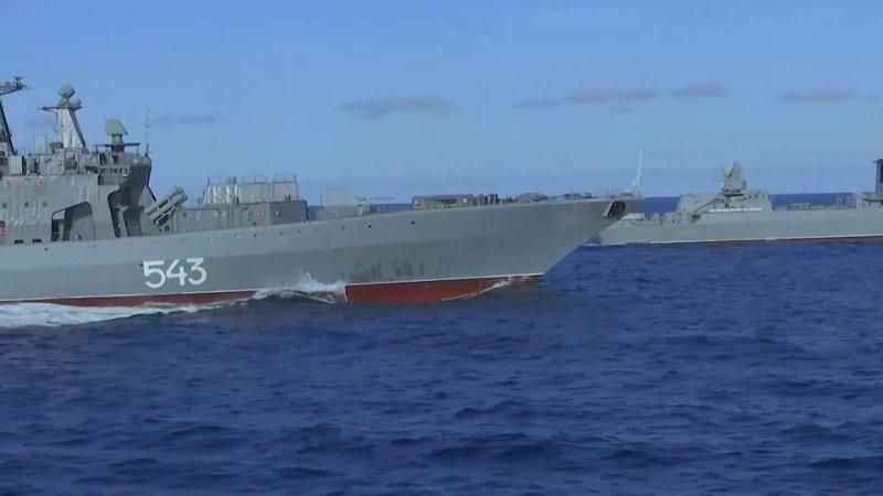 Российские корабли и суда развернули в Тихом океане в рамках учений