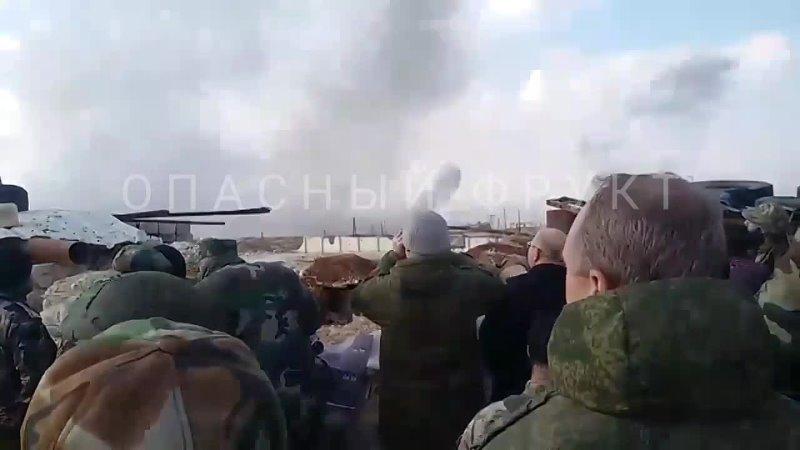 Вид на штурм правительственными силами города Алеппо ноябрь 2016 года