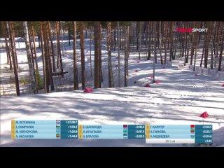 Победный финиш Марии Истоминой в масс-старте на чемпионате России. Интервью чемпионки
