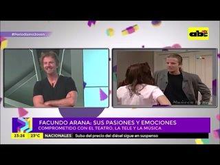 Natalia Oreiro and Facundo Arana - Periodismo Joven - TV ABC Paraguay - .