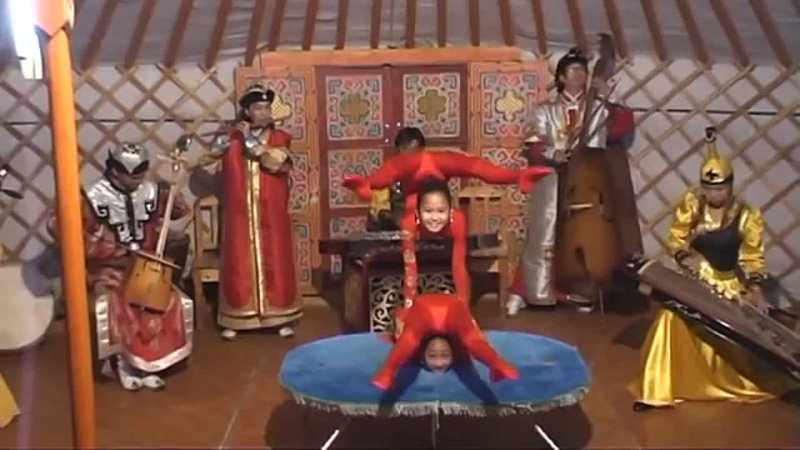 Young Mongolian Contortionists