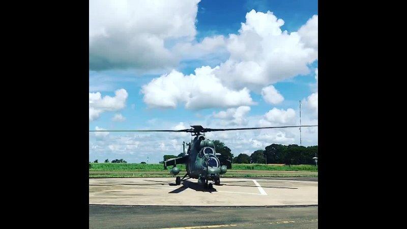 Венесуэльские ударные вертолёты Ми 35 в штате Апура на границе с Колумбией март апрель 2021 года 7