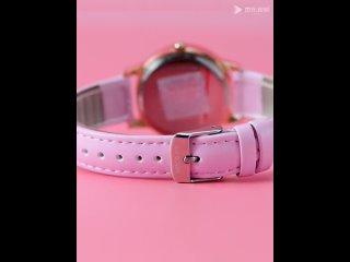 Disney princess minnie mickey mouse кварцевые часы кожаные женские водонепроницаемые для девушек