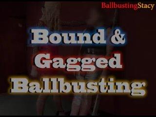 Femdomik | Фемдом Порно и Женская Доминация | Femdom Porn Bound & Gagged Ballbusting Trailer by BallbustingStacy