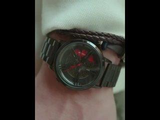 Уникальные спортивные мужские часы с автомобильным колесом в стиле хип хоп со стальным ремешком