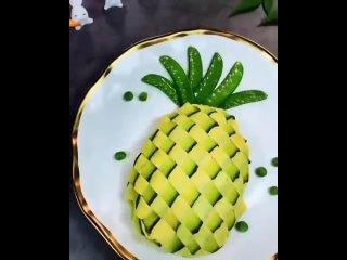 Очень красивое и необычное оформление салата.