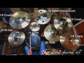 Centent cymbals AGE series B20 promo set