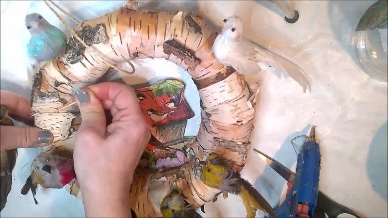 Jak zrobić wiosenną dekorację z domkiem dla ptaszków - Pomysły plastyczne DiY