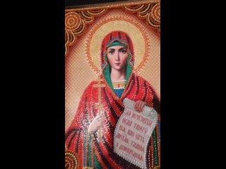 Алмазная вышивка частичная именные иконы Святая Наталия мерцающими стразами большого размера 40х50 😊 #алмазнаявышивка