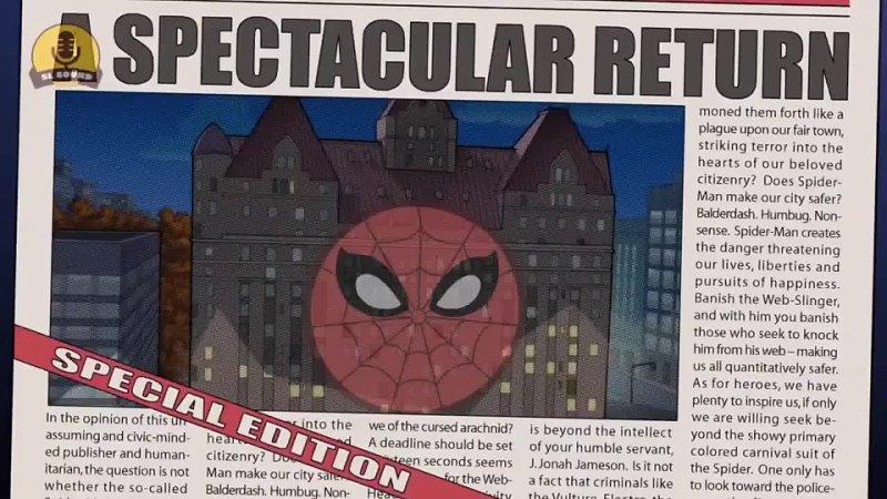 Заставка мультсериала 2008 года Грандиозный Человек Паук