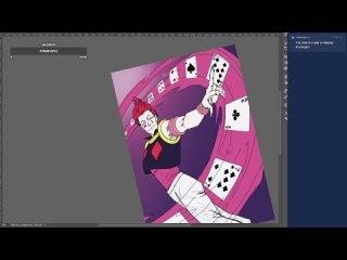 Рисую Хисоку для Кампай-фестиваля #comics #digital #art