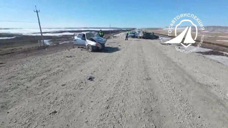 В Челябинской области женщина устроила аварию выехав на встречную полосу