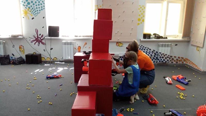 5 день Программа с бластерами в развлекательном центре NERF PLANET Лера против мальчишек с супербластером