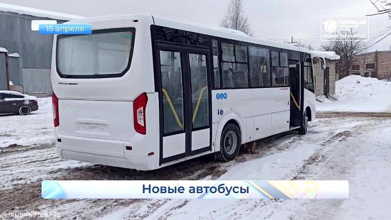 Закупили 10 новых автобусов Короткой строкой Новости Кирова 15 04 2021