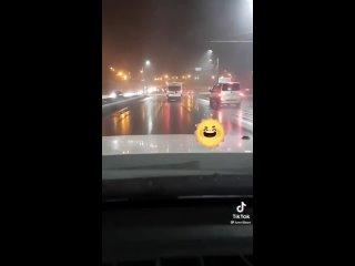 ДТП Москва - Таксист заработался