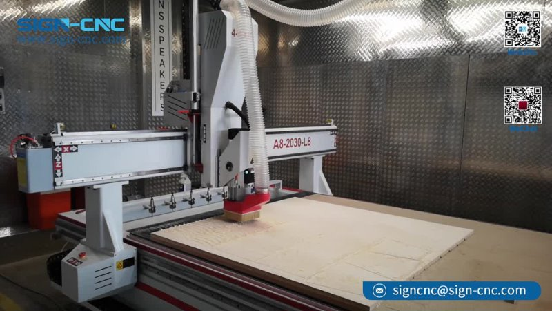 SIGN CNC 4 axis ATC cnc router for milling, cutting, carving, punch, bevel cut, hollow out machining