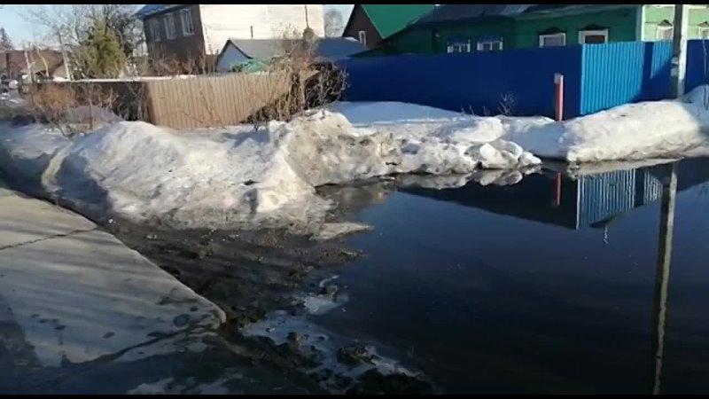 Озеро у дома в Первомайском районе