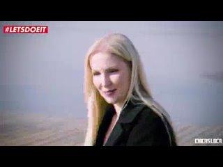 LETSDOEIT - Blonde Pornstar Seduces And Fucks Guy With GF Watching (Frida Sante & Georgie Lyall).mp4
