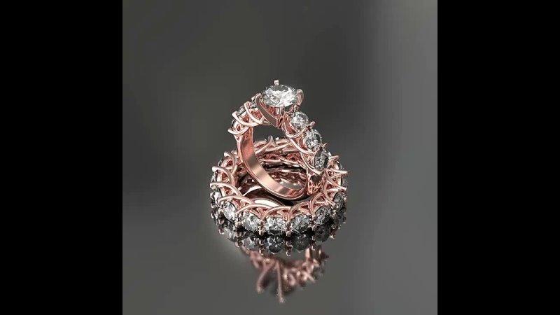 Анимация Свадебные кольца