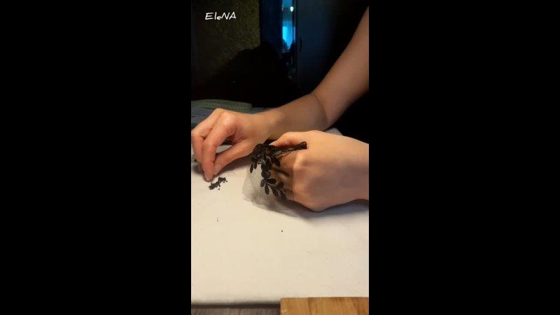 Вышивка бисером по кружеву