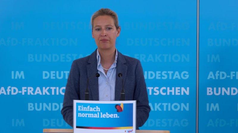 Pressestatement zum 4 Infektionsschutzgesetz mit Weidel und Gauland AfD Fraktion im Bundestag