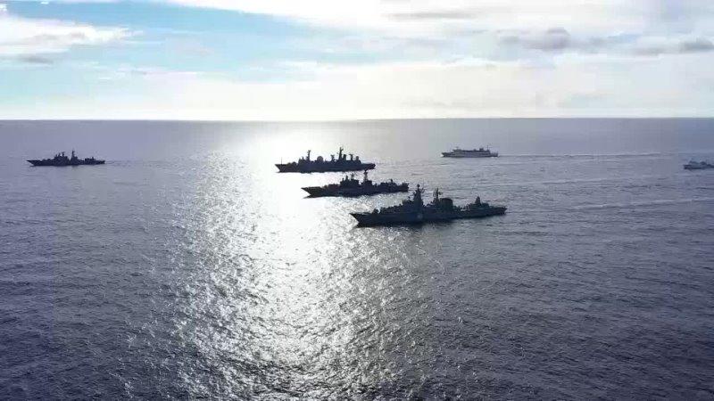 Оперативное учение разнородных сил Тихоокеанского флота в центральной части Тихого океана