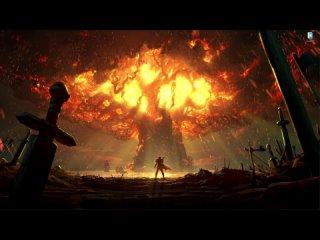 Пожар на мировом дереве Тельдрассил - живые обои для Wallpaper Engine