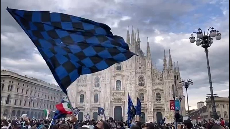 Милан – болельщики «Интера» празднуют чемпионство
