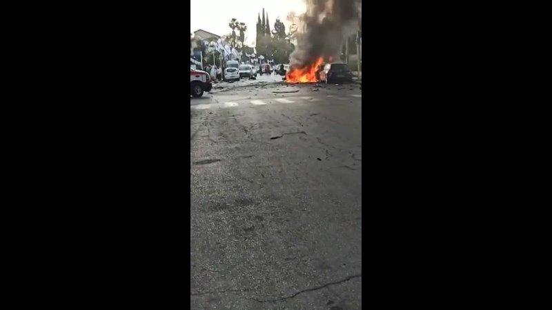 Серий взрывов и перестрелки произошли сегодня на оккупированных Палестинских территориях 48 года