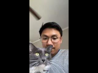 I tried kissing my cat