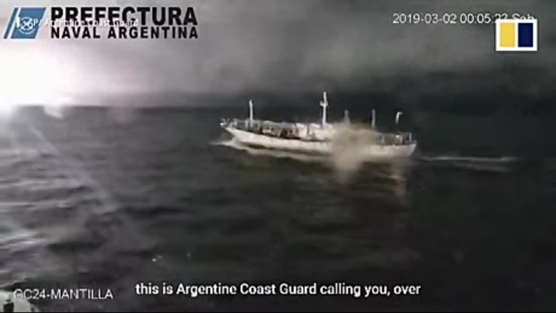 Argentine coast guard opens fire on Chinese fishing boat Mar 2th 2021