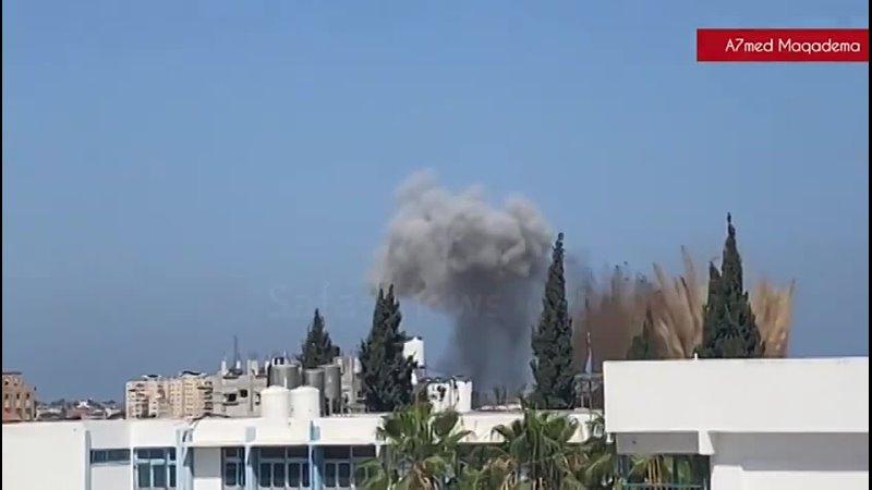 Прямо сейчас ВВС Израиля нанесли удар в Газе по лагерю Аль Брейдж Сектор Газа