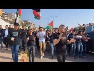 Сотни протестующих в Умм-эль-Фахме вчера днём протестовали против израильской оккупации.