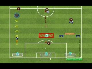 Футбольные упражнения.3 варианта на завершение  (взятие ворот)