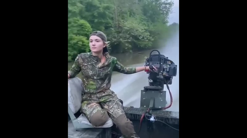 Russian girl fishing