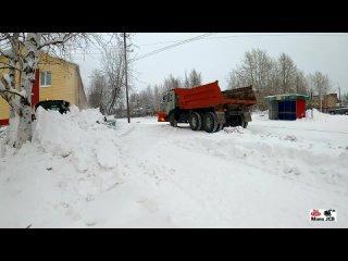 [MANS JCB] Мини погрузчик Jcb 190 грузит снег в Камаз Video 4K